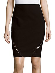 Yigal Azrouel Solid Pencil Skirt Jet