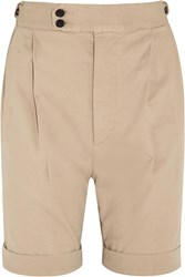 Joseph Dean Stretch Cotton Shorts Nude