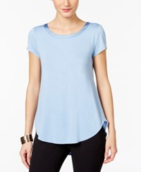 Alfani High Low T Shirt Only At Macy's Gentle Blue