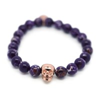 Gideon John Jewellery Skull Opulence Bracelet Purple Sea Sediment