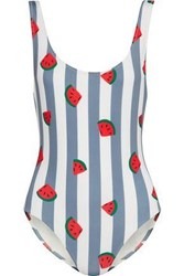 Solid And Striped The Anne Marie Swimsuit Light Blue