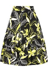 Splendid Printed Cotton Poplin Skirt Black