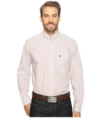 Ariat Thedford Print Shirt White Men's Long Sleeve Button Up