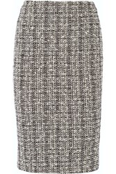 Alexander Mcqueen Cotton And Wool Blend Tweed Pencil Skirt Black