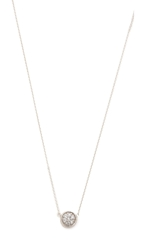 Sarah Chloe Petite Jolie Diamond Necklace Clear Silver
