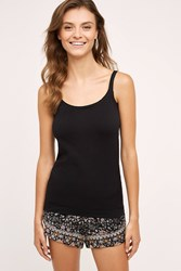Anthropologie Seamless Layering Cami Black