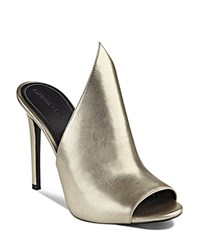 Kendall And Kylie Essie Metallic Winged Mule Slide Sandals Gold