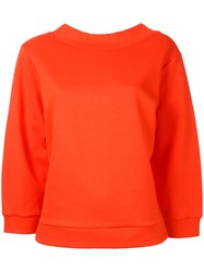 En Route Crew Neck Sweatshirt Yellow Orange