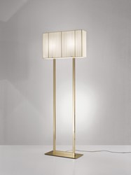 Axo Light Clavius Floor Lamp Black Brown Ivory