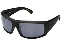 Von Zipper Clutch Polar Black Satin Wild Silver Flash Polar Plus Sport Sunglasses Blue