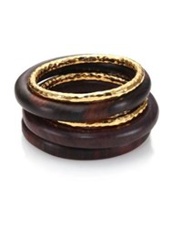 Nest Ebony Wood Bangle Set