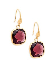 Rivka Friedman 18K Goldplated Faceted Gemstone Drop Earrings No Color