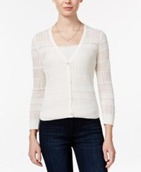 Maison Jules Open Knit Cardigan Only At Macy's Egret