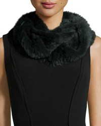 Jocelyn Sheared Rabbit Fur Knitted Infinity Scarf