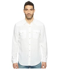 Lucky Brand Reef Linen Western Shirt White Men's Clothing