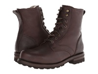 Frye Warren Combat Blazer Brown Tumbled Leather Shearling Men's Work Lace Up Boots