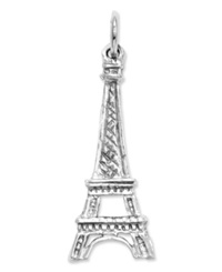 Macy's 14K White Gold Charm Solid Eiffel Tower Charm