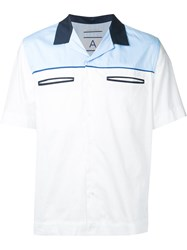 Andrea Pompilio Slip Pocket Bowling Shirt Men Cotton 46 White