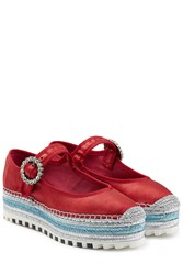 Marc By Marc Jacobs Velvet Mary Janes Multicolor