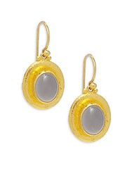 Gurhan Muse Chalcedony And 24K Yellow Gold Drop Earrings 24K Gold