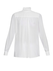 N 21 High Ruffle Neck Crepe Blouse