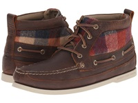 Sperry A O Boat Chukka Plaid Dark Tan Men's Pull On Boots Brown