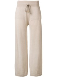 Agnona Knitted Trousers Neutrals