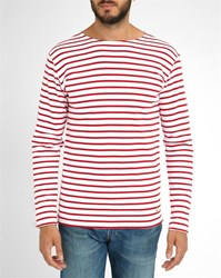 Armor Lux Red White 2297 Striped Sweater