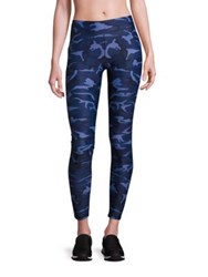 Hpe Holiday Combat Compression Camo Leggings Blue