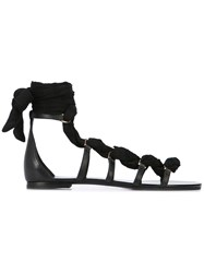 Stella Luna Ankle Tie Sandals Black