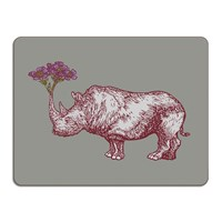 Avenida Home Puddin' Head Animal Table Mat Rhino