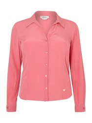 Persona Plus Size Baccarat Long Sleeved Shirt Pink