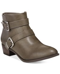 Material Girl Cady Stapped Ankle Booties Only At Macy's Women's Shoes