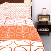 Orla Kiely Linear Stem Duvet Cover Persimmon Single 200X135cm