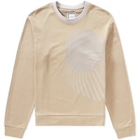 Wooyoungmi Embroidered Circle Crew Sweat Neutrals