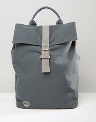 Mi Pac Canvas Backpack In Grey Grey