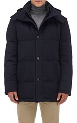 Barneys New York Women's Down Quilted Cashmere Parka Navy