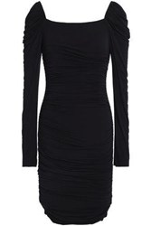 Bailey 44 Ruched Stretch Modal Jersey Mini Dress Black