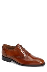 Paul Smith Men's 'Gilbert' Medallion Toe Oxford Tan Leather