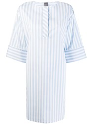 Lorena Antoniazzi Striped Shirt Dress White