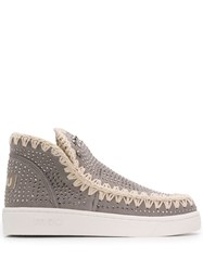 Mou Embellished Eskimo Sneakers Grey