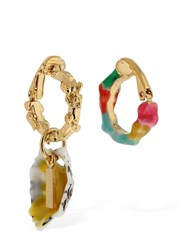 Missoni Set Of Earcuffs W Enameled Shell Detail Yellow