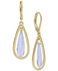 Lonna And Lilly Gold Tone Cubic Zirconia Orbital Drop Earrings
