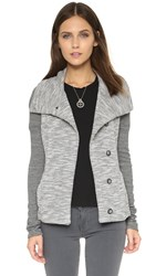Beyond Yoga Double Faced Mashed Jacket Heather Black White