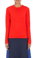 Tory Sport Women's Side Striped Wool Blend Sweater Red