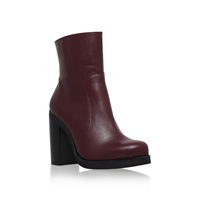 Carvela Spirit High Block Heel Calf High Boots Red