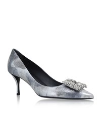 Roger Vivier Flower Strass Pumps 65 Female Silver