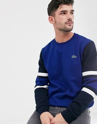 Lacoste Sport Cut And Sew Sweat In Royal Blue