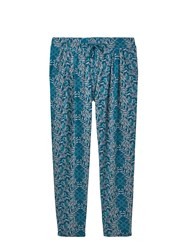 White Stuff Katie Printed Jersey Pant Green