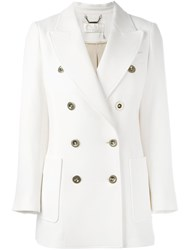 Chloe Double Breasted Jacket Nude Neutrals